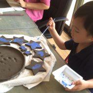 2歳お皿製作*キッズ陶芸