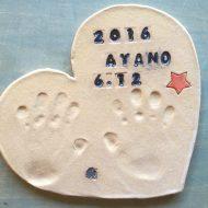 3歳製作手形プレート*キッズ陶芸